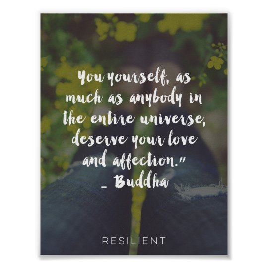 You Deserve Love And Affection Cursive Quote Poster Zazzleca