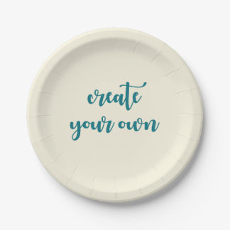 You Design It Template Create your Own Paper Plate