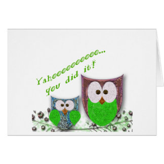 You did it owl graduation note card
