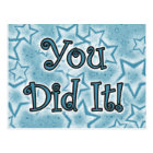 You Did It! Postcard