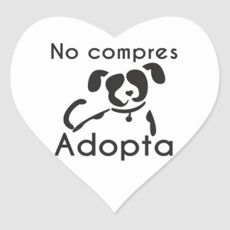 You do not buy adopts heart sticker