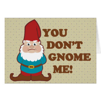 You Dont Gnome Me! Greeting Card