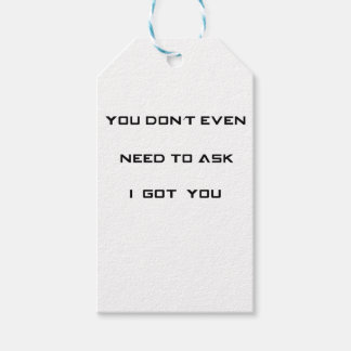 you don't ned to ask i got you pack of gift tags