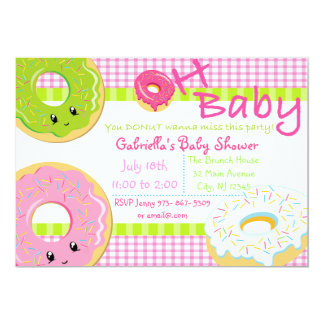 You DONUT Wanna Miss This Party Baby Shower Card