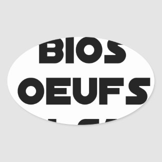 You EGG ACE ORGANIC YOU KNOW - Word games Oval Sticker