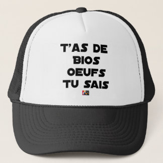 You EGG ACE ORGANIC YOU KNOW - Word games Trucker Hat