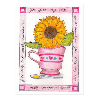 You Fill My Cup Inspirational Postcard