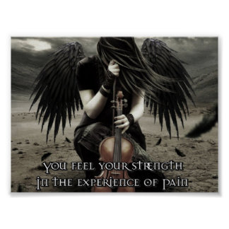 You find your strength in the experience of Pain Poster