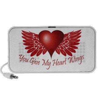 You give my heart wings mini speaker