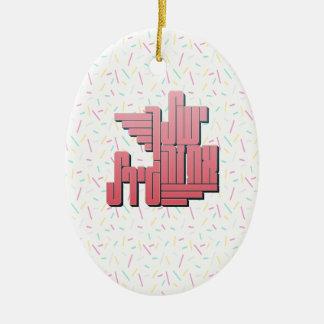 you go girl ceramic ornament