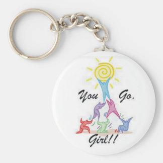 You Go Girl Keychain