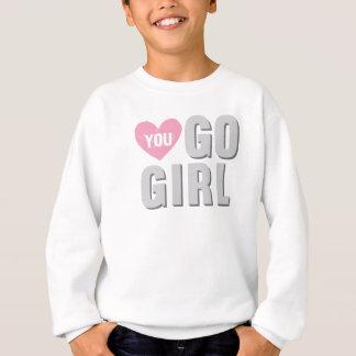 You Go Girl with Heart Sweatshirt