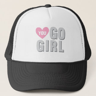 You Go Girl with Heart Trucker Hat