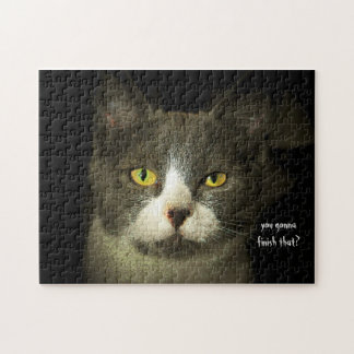 You gonna finish that? Cat Meme template Jigsaw Puzzle