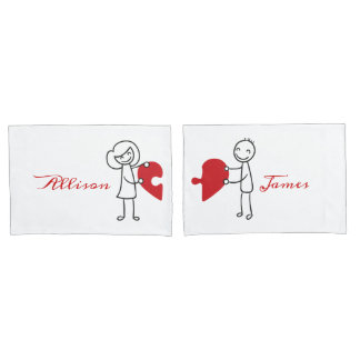 You Got a Piece of my Heart - His and Hers Pillowcase
