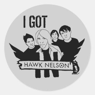 You Got Hawk Nelson'd! Classic Round Sticker