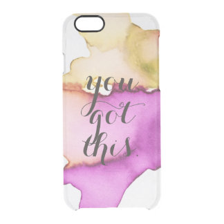 You got this clear watercolor ikat hipster neon clear iPhone 6/6S case