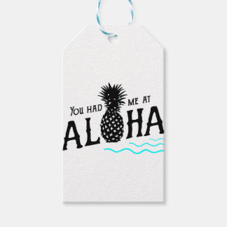YOU HAD ME AT ALOHA PACK OF GIFT TAGS