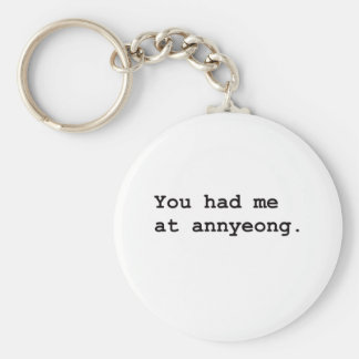 You Had Me at Annyeong Korean K-POP (Couple) Tee Keychain