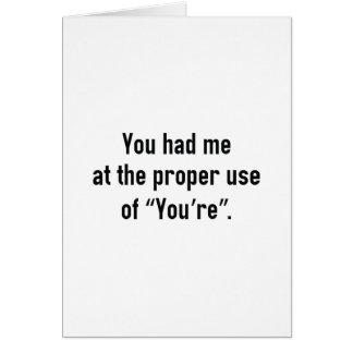 You Had Me At Card