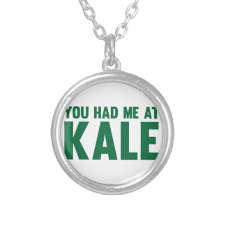 You Had Me At Kale Silver Plated Necklace