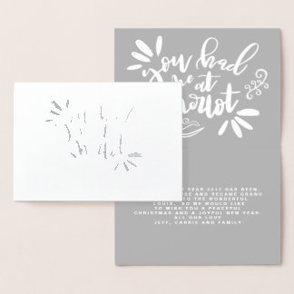 YOU HAD ME AT MERLOT! FOIL CARD