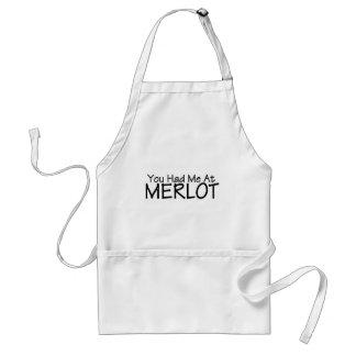 You Had Me At Merlot Standard Apron