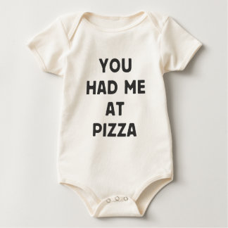 You had me at pizza baby bodysuit