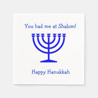 You had me at Shalom cocktail napkins Hanukkah