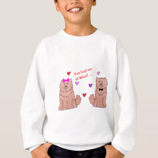 You Had Me At Woof Chow Chow Red Sweatshirt