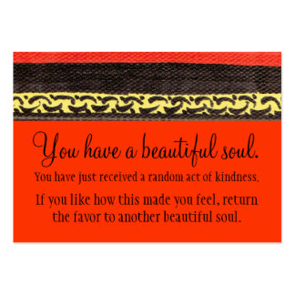 You Have A Beautiful Soul Business Card Templates