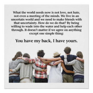 You Have My Back, I Have Yours Poster