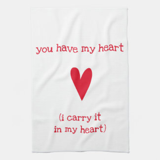You have my heart | Poem by E.E. Cummings Kitchen Towel
