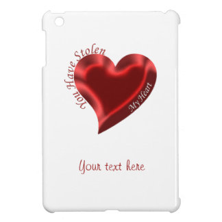 'You have stolen my heart' text on a Red Heart iPad Mini Cases