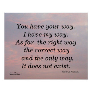 YOU HAVE YOUR WAY F NIETZSCHE POSTER