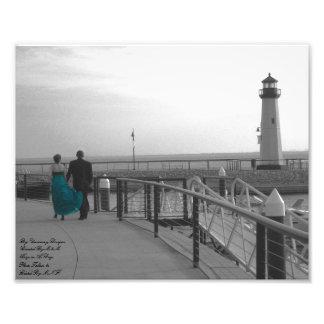 You Held My Hand Lighthouse Film Grain Kodak Profe Photo Print