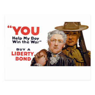 YOU help my boy win the war Postcard