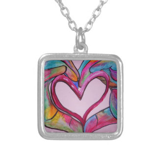 You Hold My Heart in Your Hands Silver Plated Necklace