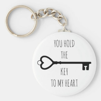 You hold the key to my heart keychain