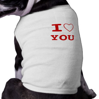 YOU I heart (love) Pet Clothing