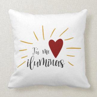 You illuminate to me throw pillow