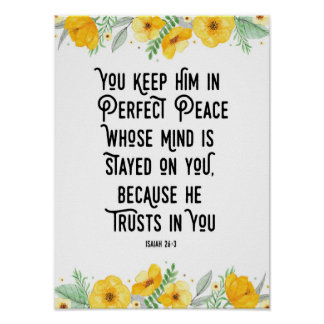 You Keep Him in Perfect Peace Poster