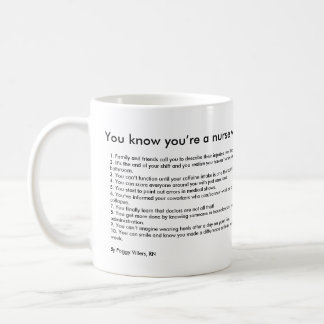 You know you're a nurse when... basic white mug
