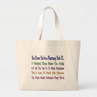 You Know You're a PHARMACY TECH IF... Jumbo Tote Bag