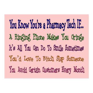 You Know You're a PHARMACY TECH IF... Postcard