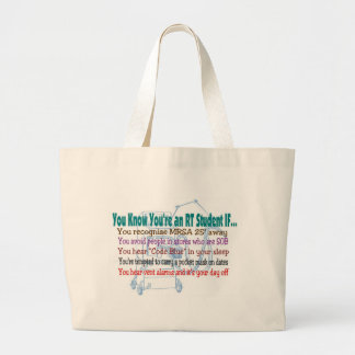 YOU KNOW YOU'RE AN RT STUDENT IF.... JUMBO TOTE BAG