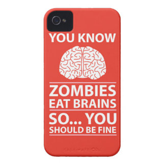 You Know - Zombies Eat Brains Joke iPhone 4 Cover