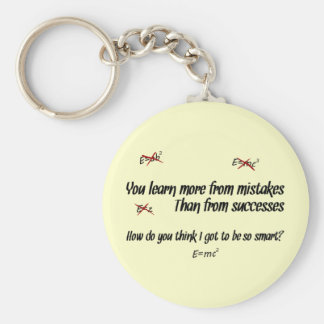 You Learn More from Mistakes Keychain
