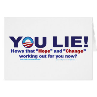 YOU-LIE-2 GREETING CARD