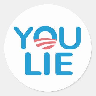 You Lie Anti-Obama Sticker